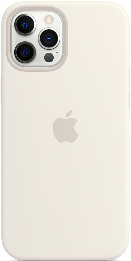 Чехол Apple для iPhone 12 Pro Max Silicone Case with MagSafe (белый)