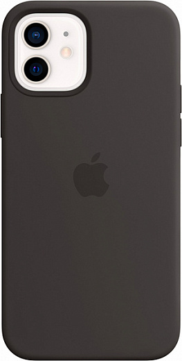 Чехол Apple для iPhone 12 mini Silicone Case with MagSafe (черный)