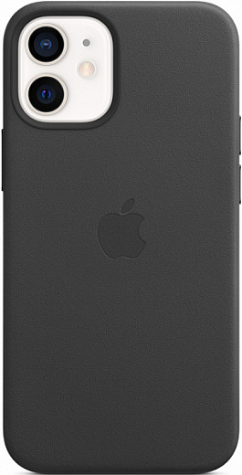 Чехол Apple для iPhone 12/12 Pro Leather Case with MagSafe (черный)
