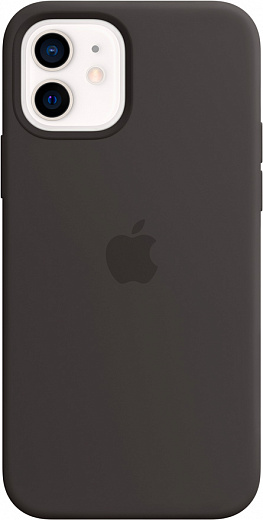 Чехол Apple для iPhone 12/12 Pro Silicone Case with MagSafe (черный)