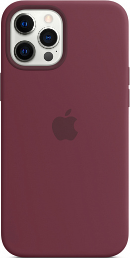 Чехол Apple для iPhone 12 Pro Max Silicone Case with MagSafe (сливовый)