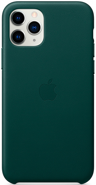 Чехол Apple для iPhone 11 Pro Max Leather Case (зеленый лес)