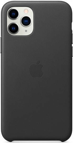 Чехол Apple для iPhone 11 Pro Max Leather Case (черный)